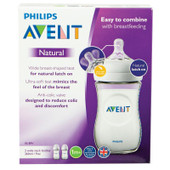 Avent Natural Feeding Bottle 260ml 2pk