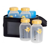 Medela Cooler Bag with 4 Breastmilk Bottles