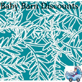 Outlook - Cotton Sleep Eazy Cover - Teal Fern Leaf