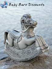 Rocking Horse Money Box Pewter Finish