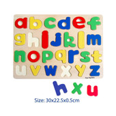 Fun Factory Raised Wooden Puzzle Lower Case Alphabets