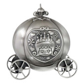 Pumpkin Coach Money Box Pewter Finish
