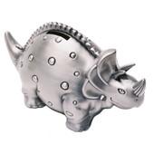 Triceratops Dinosaur Money Box Pewter Finish