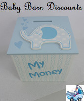 Elephant Money Box - Blue