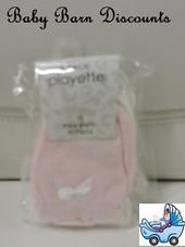 Playette - Newborn Mittens - 3Pk -Pink
