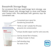 Pigeon Breast Milk Storage Bags 25 Pack