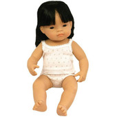 Miniland Anatomically Correct Baby Doll Girl - 38 cm