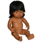 Miniland Anatomically Correct Baby Doll Girl 38 cm