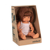 Miniland Anatomically Correct Baby Doll Girl 38 cm Red head Caucasian at Baby Barn Discounts