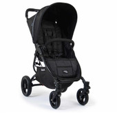 Valco Baby Snap 4 - Black Beauty has 4 sturdy wheels and is a Snap to fold.