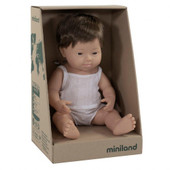 Miniland Anatomically Correct Baby Doll Boy 38 cm DOWN SYNDROME CAUCASIAN BOY