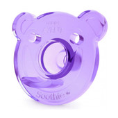 AVENT Orthodontic Bear Shape Soothie Twin Pack for 0-3 Months Pink/Purple