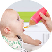 Boon Squirt Silicone Baby Food Dispensing Spoon