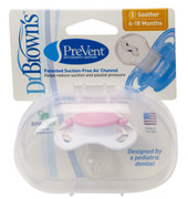 Dr Brown's PreVent Orthondontic Pacifier - PINK