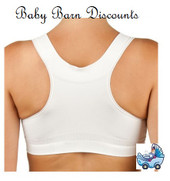 New Beginnings - Black Breastfeeding Bra with Back Support - Small Drop Cup Bra