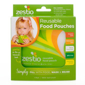 Zestio Reusable Green Food Pouches - 4 pack