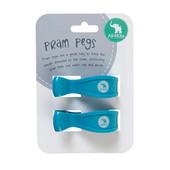 All4Ella 2 Pack Pram Pegs - FLURO BLUE