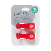 All4Ella 2 Pack Pram Pegs - RED