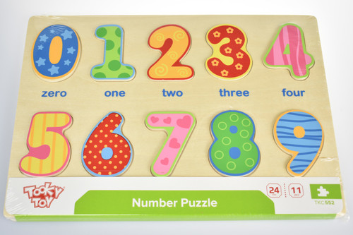 Tooky Toy - Wooden Number Puzzle