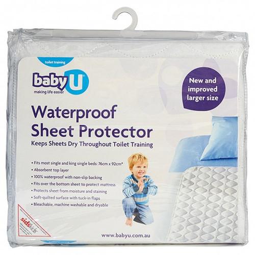 Baby U Waterproof Sheet Protector for Single Bed