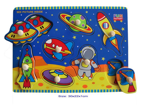 Fun Factory - Space Wooden Puzzle with Knobs