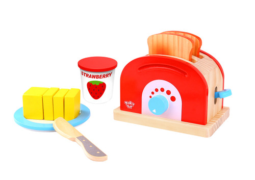 Kaper Kidz Toaster Set Wooden Toy