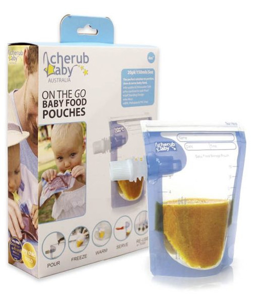 Cherub Baby Reusable Food Storage Pouch 20pk