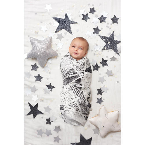 Aden + Anais Silky Soft Bamboo Muslin Swaddle 3 Pack - Midnight