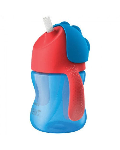 Avent Dinosaur Straw Cup 200ml - BLUE