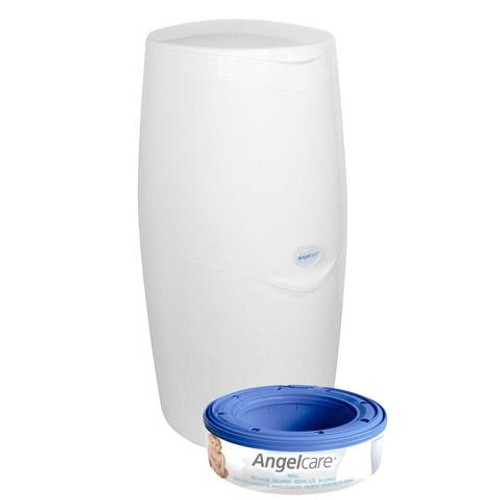 Angelcare Nappy Disposal System - Includes 1 Bin & 1 Refill Cassette