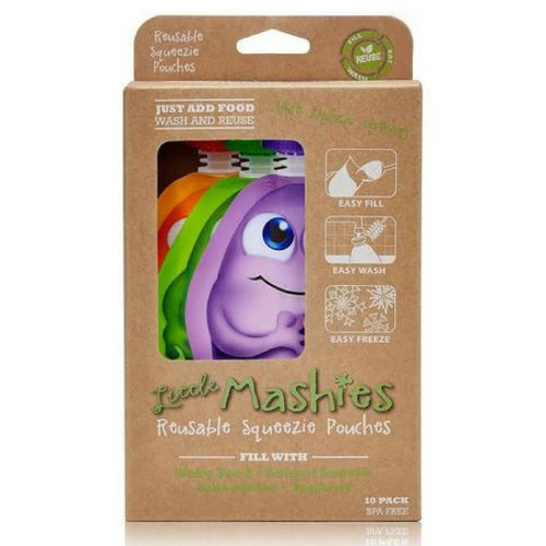 Little Mashies Reusable Squeeze Pouch Pack of 10