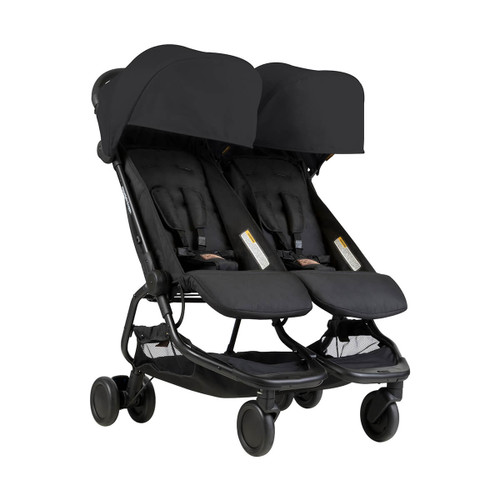 Mountain Buggy Nano Duo Buggy Black - FRONT VIEW