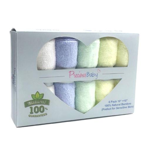 Precious Baby Bamboo Wash Clothes 6 Pack