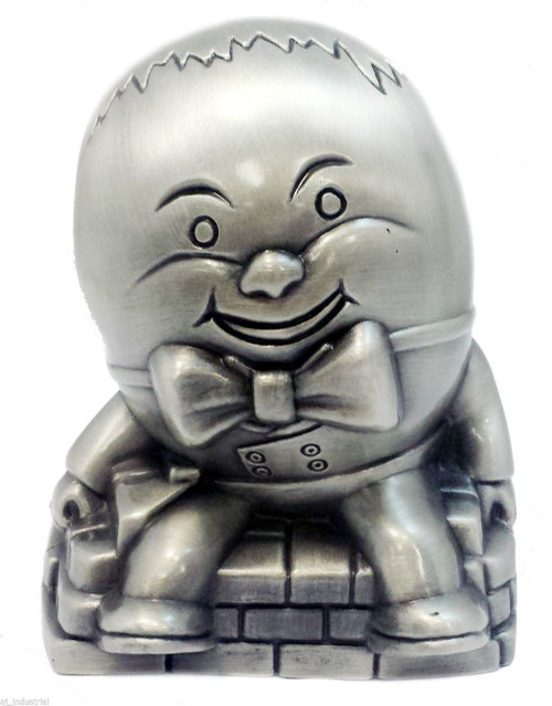 Humpty Dumpty Money Bank Pewter Finish