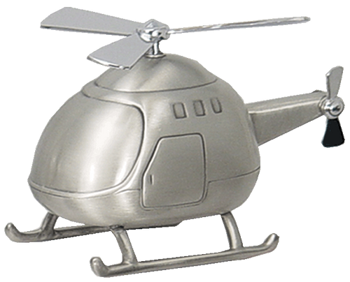 Helicopter Money Bank Pewter Finish