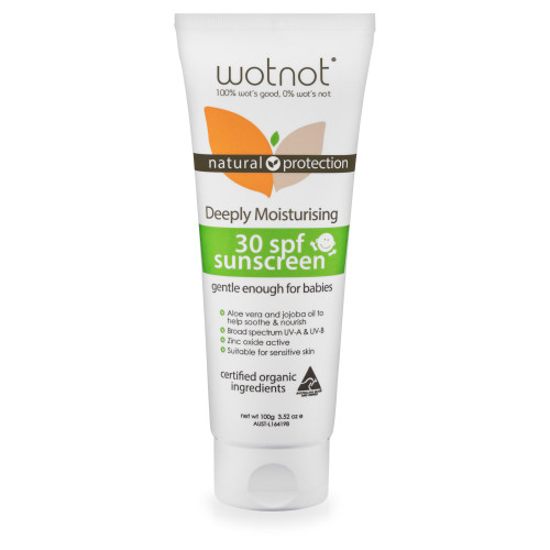 Wotnot 30 SPF Natural Baby Sunscreen 100g