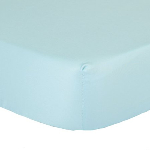 The Peanutshell Bassinet Solid Fitted Sheet - LIGHT BLUE