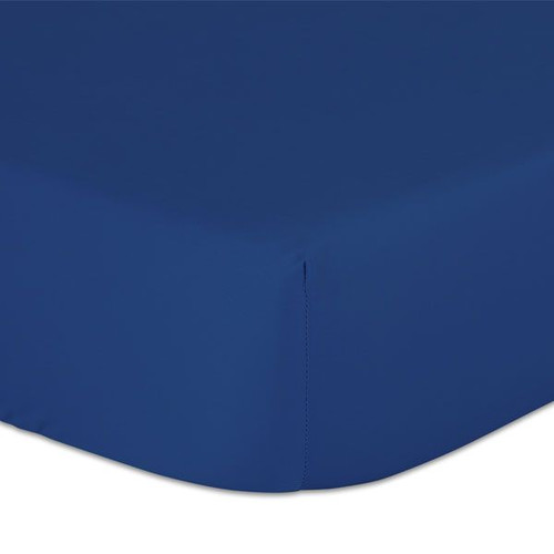 The Peanutshell Cot Solid Fitted Sheet - NAVY