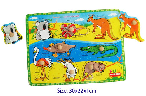 Fun Factory Wooden Australian Animals Puzzle