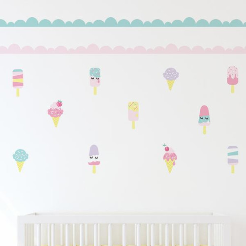 Lolli Living Decorative Wall Decal Set Ice Cream