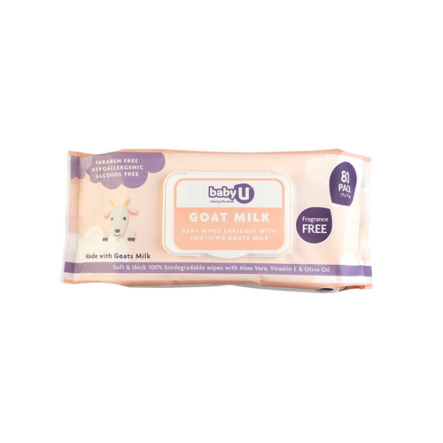 Baby U Goat Milk Wet Wipes 80pk