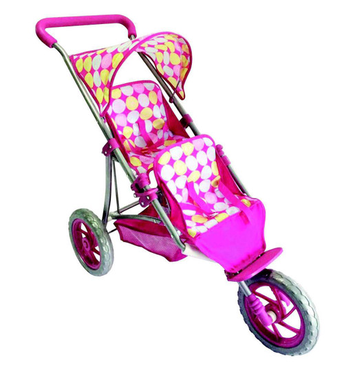 Monarch Twin Jogger Doll Stroller