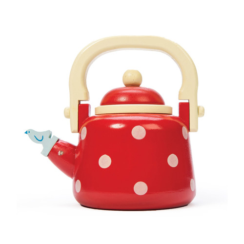 Le Toy Van Wooden Red Dotty Kettle