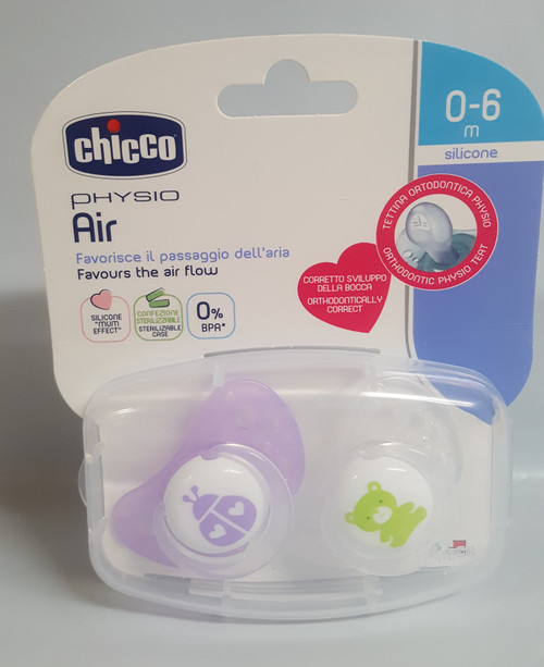 Chicco Physio Air Soother 0-6m 2 Pack (Girl) - LADYBUG/TEDDY
