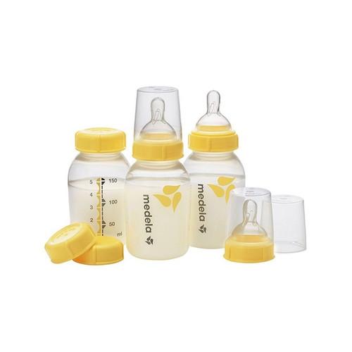 Medela Breastmilk Bottle 150ml with Wide Base Teat 3 Pack