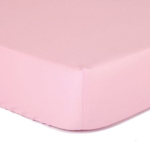 The Peanutshell Cradle Solid Fitted Sheet - PINK