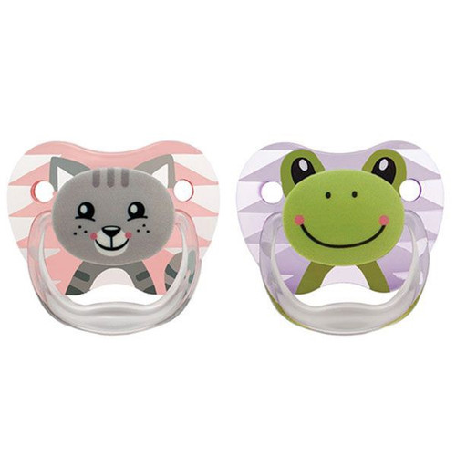 Dr Brown's PreVent Printed Shield Pacifier 0-6m 2pk - GIRL