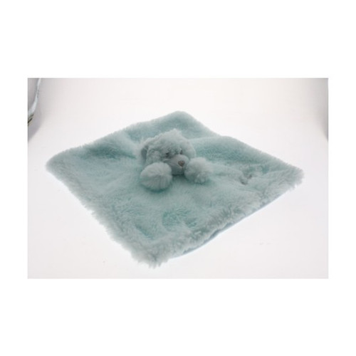 Cotton Candy Plush Bear Blanket Blue