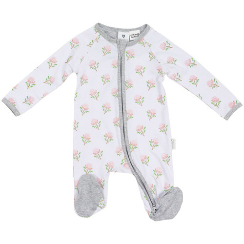 Korango Cotton Romper Size 0-3m - WHITE WARRATAH