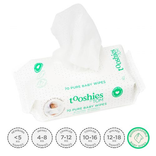 Tooshies Pure Baby Wet Wipes 70pk